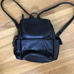 Rosetti Black leather backpack. New Condition